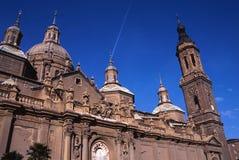 Cathédrale Saragosse de l'Espagne photo libre de droits