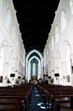 Cathédrale Singapour de rue Andrews Image stock