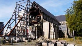 Cathédrale square-2 de Christchurch clips vidéos