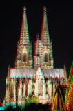 cathédrale stéréo de Cologne d'image de l'anaglyphe 3D Photographie stock libre de droits