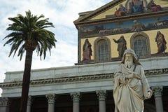 Cathédrale St Paul hors des murs Rome photographie stock