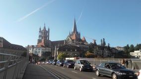 Cathédrale suisse de vue Photographie stock libre de droits