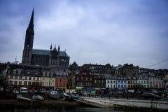 Cathédrale sur la colline dans Cobh Irlande photographie stock libre de droits