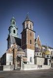Cathédrale sur le château de Wawel Image stock