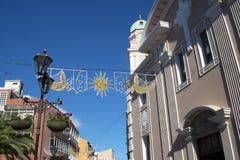 Cathédrale sur le rocher de Gibraltar à l'entrée vers la mer Méditerranée Photographie stock libre de droits