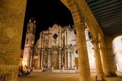 Cathédrale, vieille La Havane, Cuba Photographie stock libre de droits