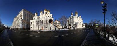 Cathédrales de Kremlin de panorama, à l'intérieur de Moscou Kremlin, la Russie photo libre de droits