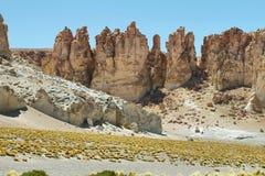 Cathédrales de roche en Salar de Tara Photos libres de droits