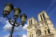 cath κυρία de drale notre Παρίσι Στοκ Εικόνες