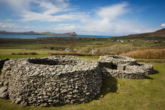 Cathair Deargain stone fortress. Dingle. Ireland Stock Images