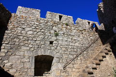 Cathar castle Peyrepertuse Stock Photos