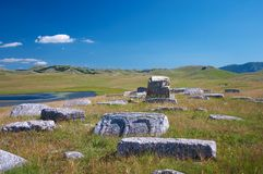 Cathar Cemetery. Medieval Cathar cemetery on slopes of mountain Durmitor - Montenegro Stock Image