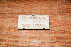 Catharina议院赭色的,意大利 库存照片