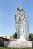 Catharina雕象在罗马,意大利 免版税库存照片