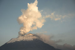 Catharsis. Volcanic activity and column of ashes and smoke from the Popocatepetl volcano Royalty Free Stock Photos
