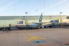 Cathay Aircraft standing at Stock Photo