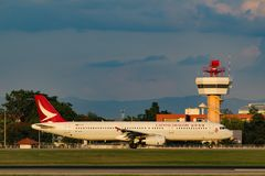 Cathay Dragon Airbus A321-231 Royalty-vrije Stock Afbeelding