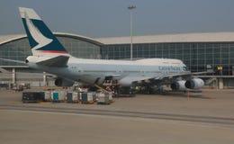 Cathay Pacific Imágenes de archivo libres de regalías