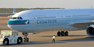Cathay Pacific Airbus 330 Photos stock