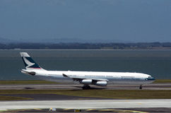 Cathay Pacific Airbus A340 Photographie stock