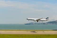 Cathay Pacific aircraft Royalty Free Stock Images