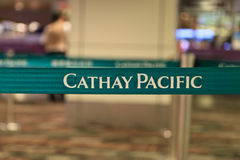 Cathay pacific belt Stock Image