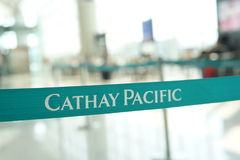 Cathay Pacific belt. HONG KONG, CHINA - OCTOBER 06: Cathay Pacific belt on October 06, 2013 in Hong Kong, China. Cathay Pacific is the international flag carrier stock photos