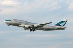 Cathay Pacific Boeing 747 Fotografía de archivo libre de regalías