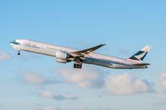 Cathay Pacific Boeing 777 obraz stock