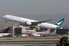 Cathay Pacific Boeing 777-300 airplane Royalty Free Stock Images