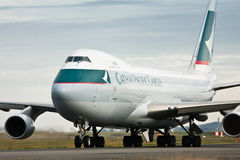 Cathay Pacific Cargo Boeing 747 airliner royalty free stock photography