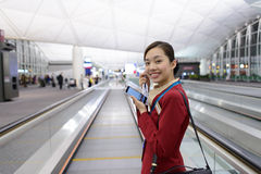 Cathay Pacific crew member Stock Images