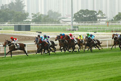 Cathay Pacific Hong Kong International Horse Races Stock Image