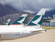 Cathay Pacific-luchtroutes Royalty-vrije Stock Afbeelding