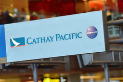 Cathay Pacific passenger service counter Royalty Free Stock Photography