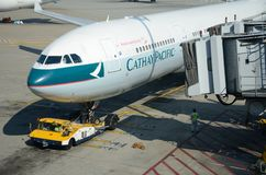 Cathay Pacific plane Royalty Free Stock Images