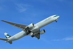 Cathay pacific plane Royalty Free Stock Photo