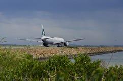 Cathay Pacific vänta Royaltyfri Bild
