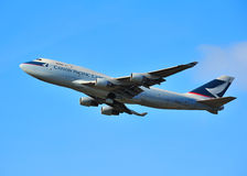 Cathay Pacifiic Jumbo Jet Stock Photography