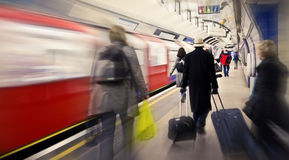 Cathcing the tube Stock Photos