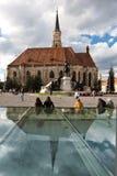 Cathderal católico en Cluj Imagen de archivo libre de regalías