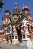 Cathderal da manjericão do St no quadrado vermelho, Moscovo Foto de Stock Royalty Free