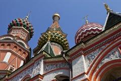 Cathderal da manjericão do St no quadrado vermelho, Moscovo fotografia de stock