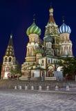 Cathderal de la albahaca del St, Moscú Fotos de archivo