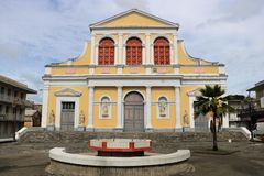 Cathderal in Pointe-a-Pitre, Guadeloupe, France Royalty Free Stock Photos