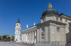 Cathdral and belfry in the center of Vilnius Royalty Free Stock Photos