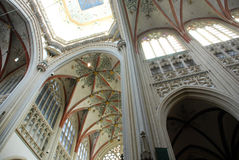 Cathdral Saint Jan Den Bosch. The interior of the Cathdral of Saint Jan in Den Bosch (Holland Royalty Free Stock Photo