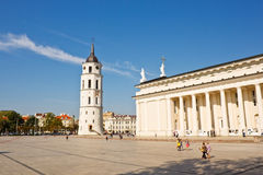 Cathdral square in Vilnius, Lithuania Royalty Free Stock Photos