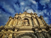 Cathédrale à Catane Photographie stock