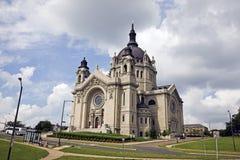 Cathédrale dans la rue Paul, Minnesota Images libres de droits